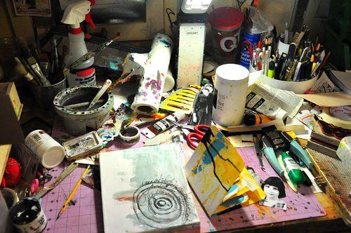 Messy horrid desk
