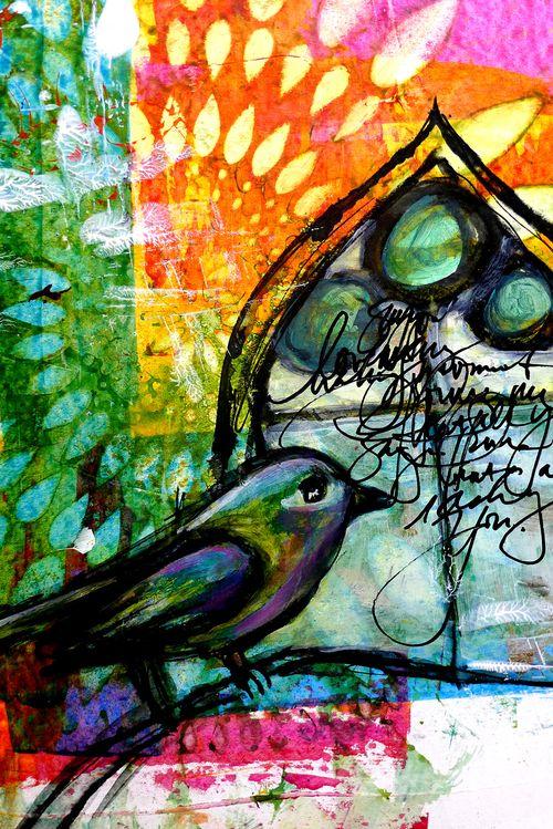 Bird by window
