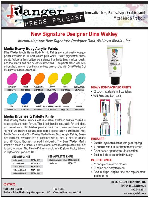 Dina Wakley PR 2014-2