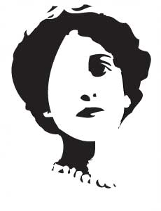 Dw stenciled queenie