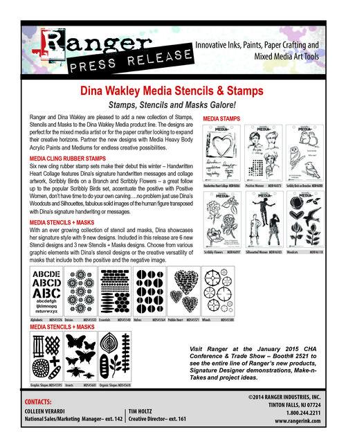 Dina Stencils Stamps PR