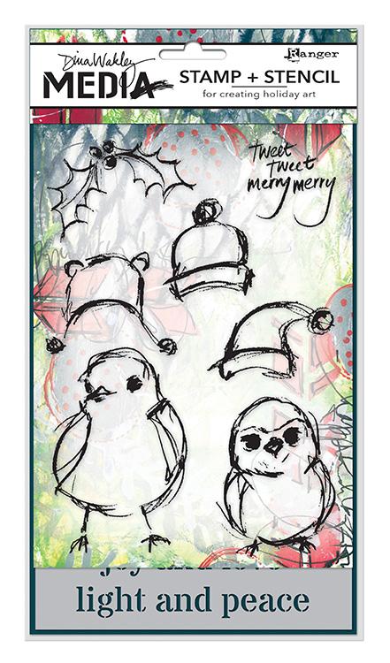 MDZ47872_Scribbly Holiday Birds