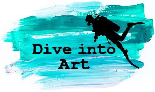 Dive into art logo