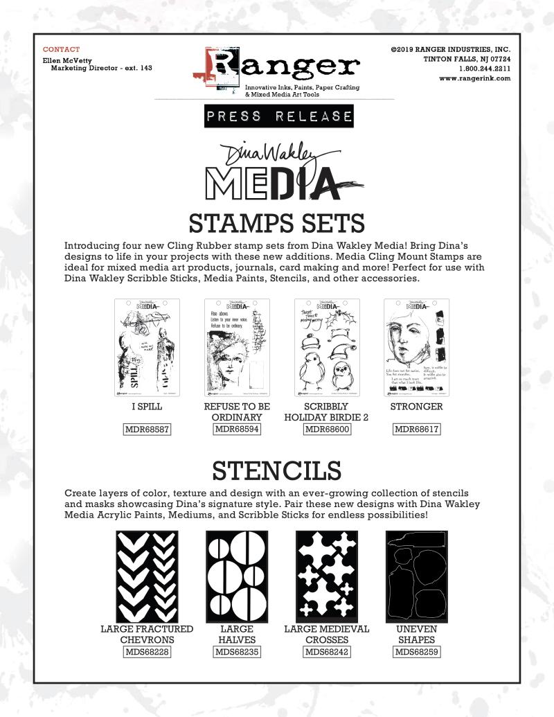 DM Stamps Stencils August 2019 PR