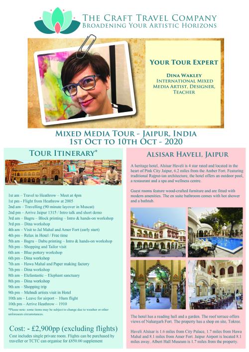 Flyer - Oct 2020 - Mixed Media Tour - Dina