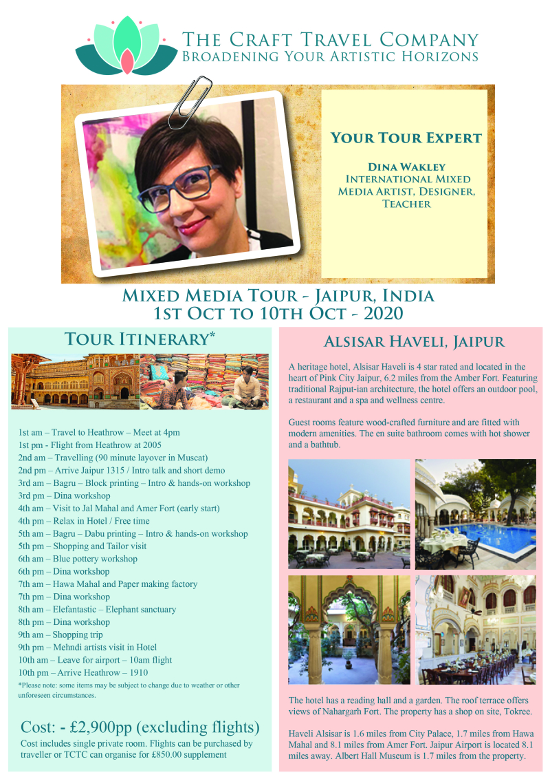 Flyer - Oct 2020 - Mixed Media Tour - Dina